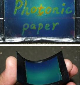 3x4 cm'lik fotonik kağıtın fotoğrafları (Image: Yin Lab, UC Riverside)