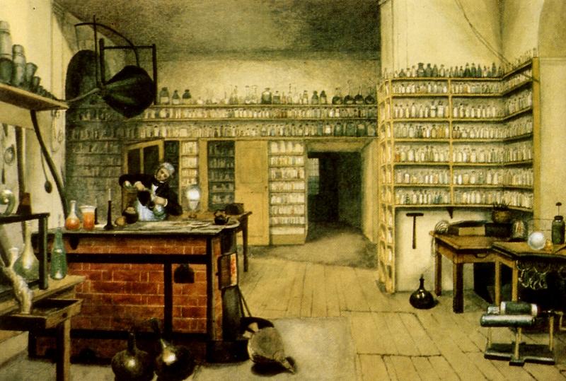 Faraday laboratuvarında iken