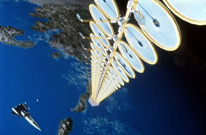 Gelecekte, yörüngedeki güneş panelleri sayesinde enerji elde edebiliriz. NASA