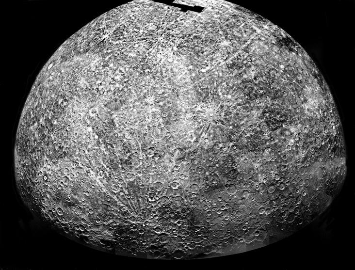 Mariner10 uzay aracının 29 Mart 1974'te görüntülediği Merkür.  Credit: NASA