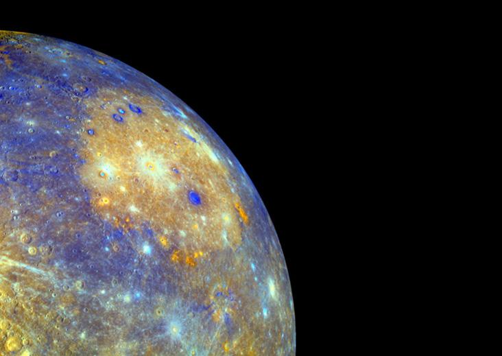 MESSENGER tarafından görüntülenen Merkür'deki Coloris havzası. Credit: NASA