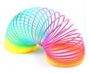 Slinky-spiral oyuncağı.