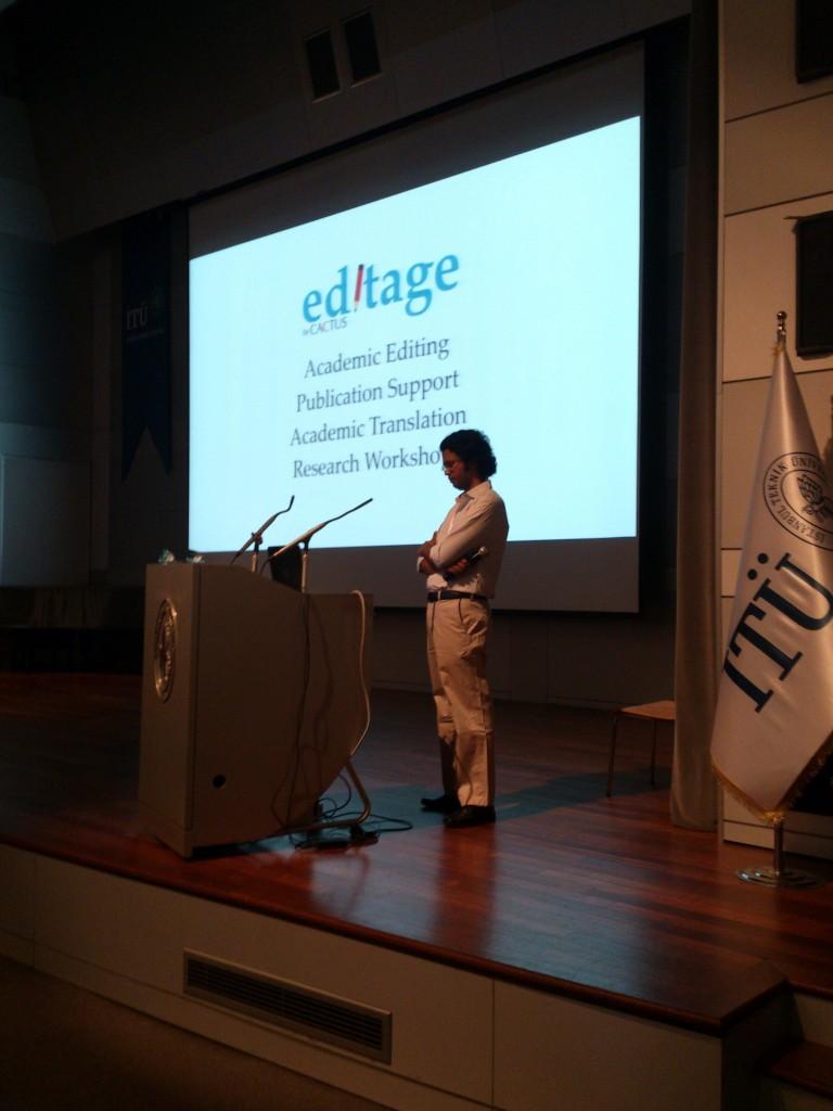Editage'in düzenlediği İTÜ'deki çalıştaydan...