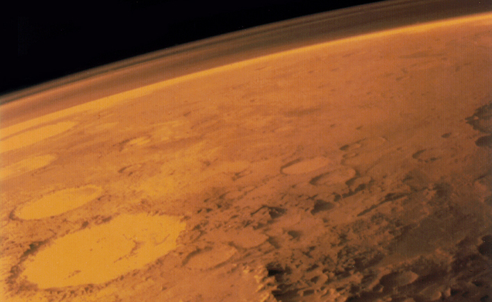 Mars'ın atmosferi. Credit: NASA