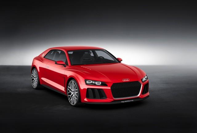 Laserle çalışan fara sahip yeni Audi aracı.