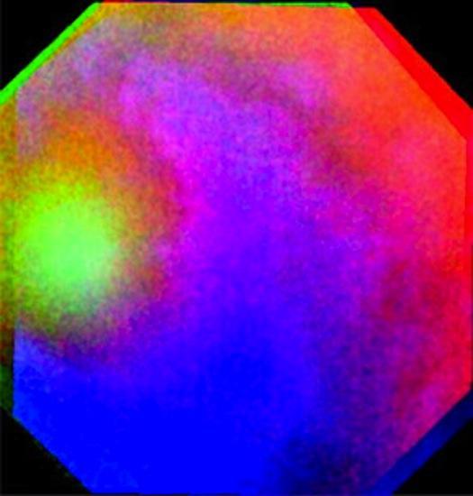 Venüs'teki ışık halkasının doğru olmayan renk bileşimi. ESA/MPS/DLR/IDA