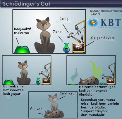 Schrödinger'in Kedisi düşünce deneyi.