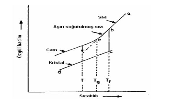 Şekil 3: Sıcaklık-Özgül Hacim İlişkisi (Rawson 1980)