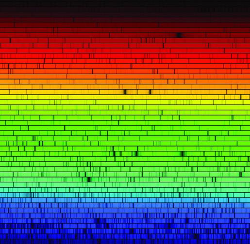 Kesikli soğurma spektrumu: bir yıldıza ait