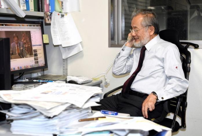 Prof. Dr. Yoshinori Ohsumi. credit Kyodo